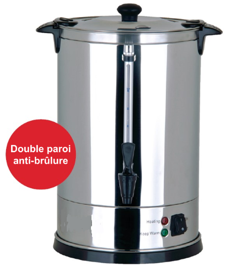 Percolateur à café 60 tasses, 8.8L, 230v, 950w