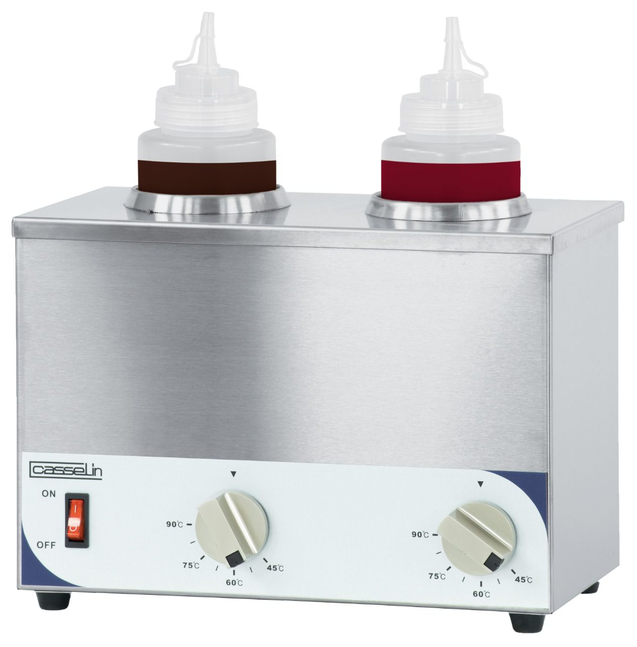 Chauffe-sauce 2 bouteilles, 230v, 2x200w