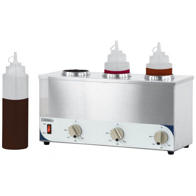 Chauffe-sauce 3  bouteilles, 230v, 3x200w