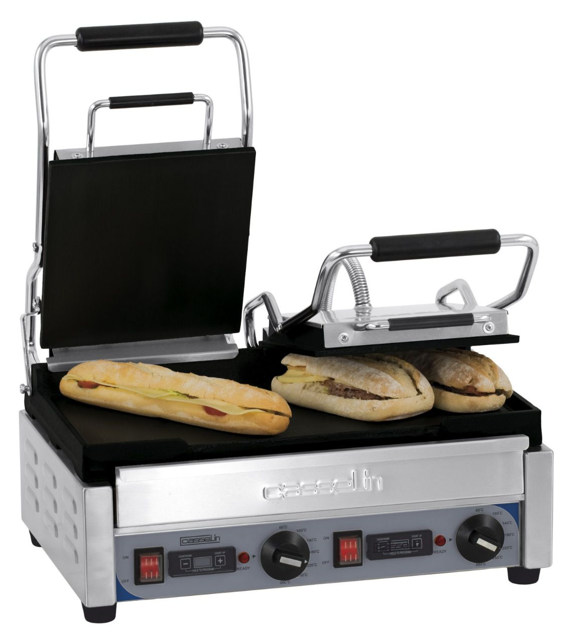 Grill panini double lisse-lisse minuteur, 230v, 2900w