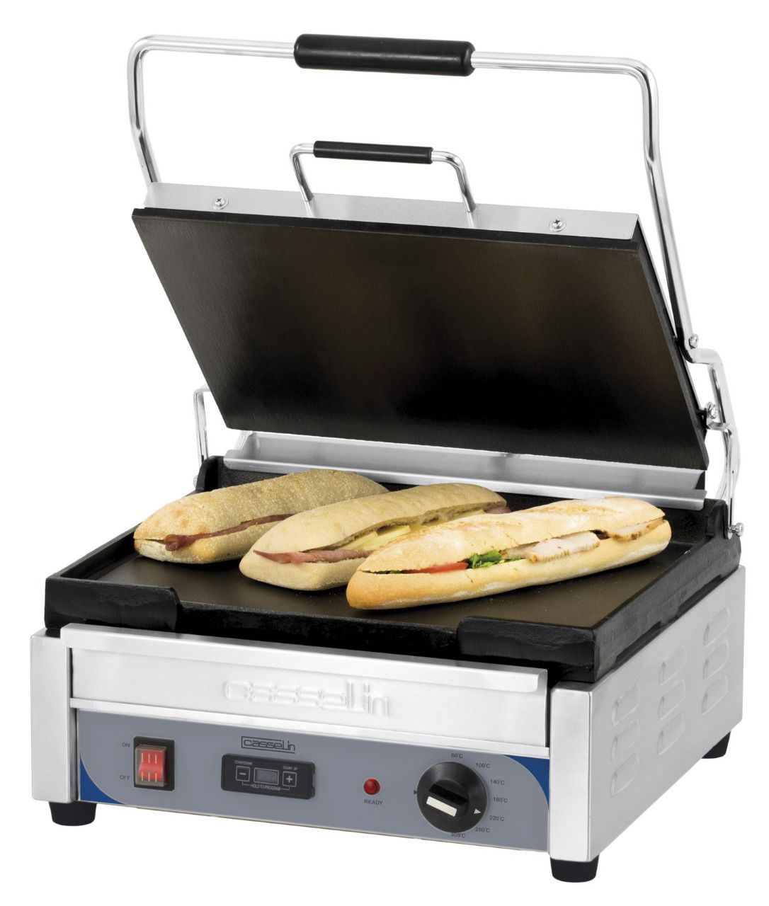 Grill panini lisse-lisse minuteur
