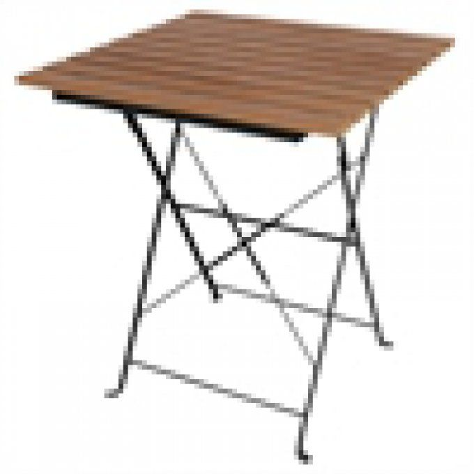 Table carré imitation bois durable Boléro